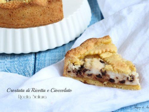 Crostata di ricotta e cioccolato, ricetta Siciliana