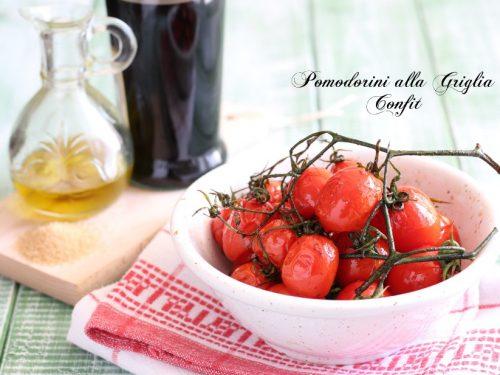 Pomodorini alla griglia confit