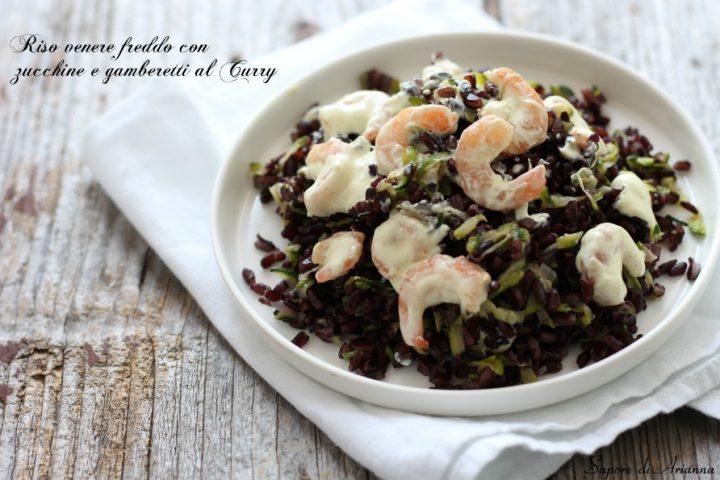 riso venere fraddo con zucchine e gamberetti al curry