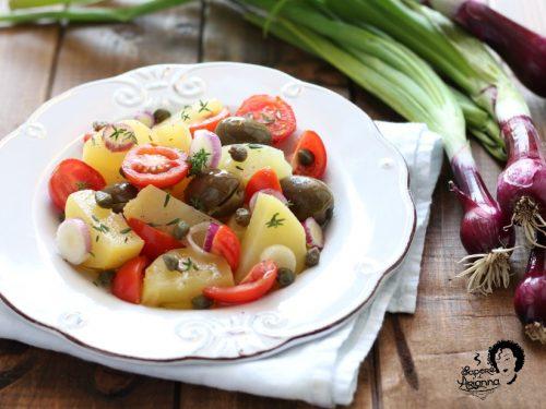 Insalata PANTESCA patate, capperi e cipolle