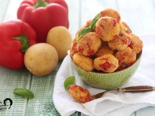 Polpette di peperoni e patate