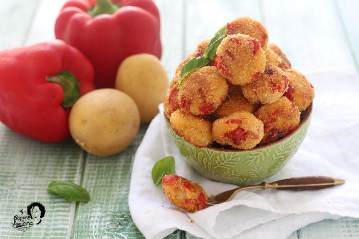 polpette di peperone e patate