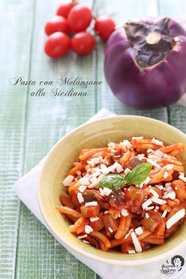 pasta con melanzane alla siciliana