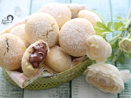 Biscotti morbidi Cuor di Nutella ricetta veloce