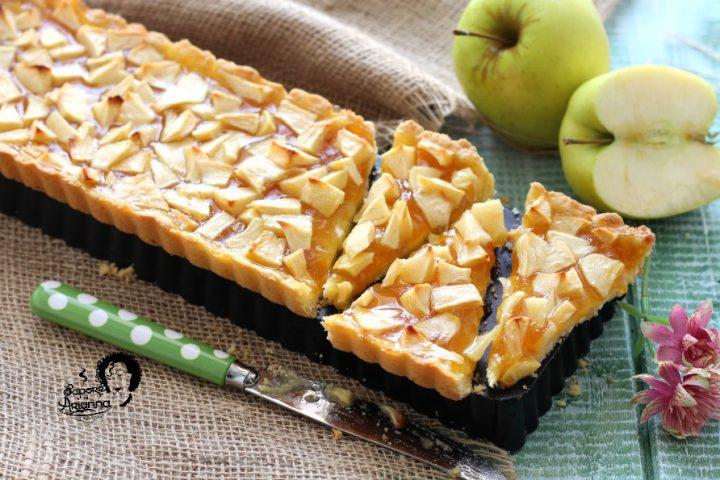 crostata di mele e marmellata senza burro