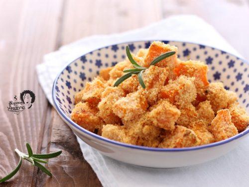 Zucca al forno gratinata croccante