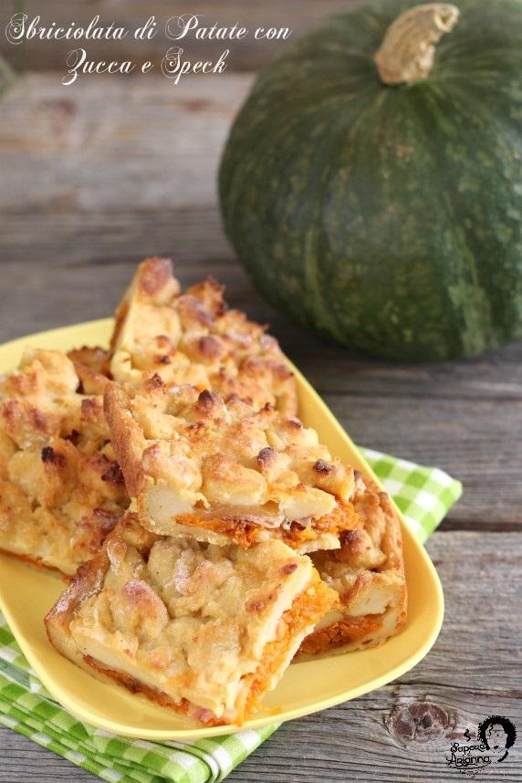 sbriciolata di patate con zucca e speck