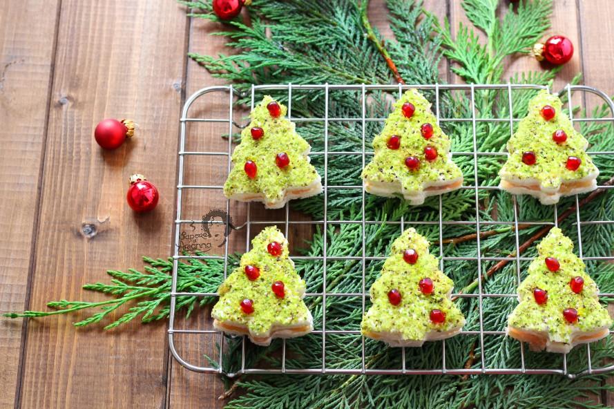 Alberelli Di Natale.Alberelli Di Natale Salmone E Pistacchio Con Pane Tramezzini