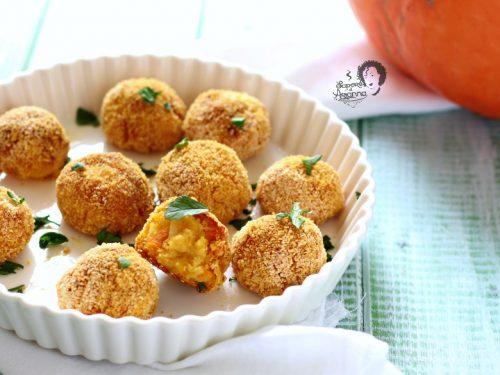 Polpette Zucca e Patate al forno senza uova