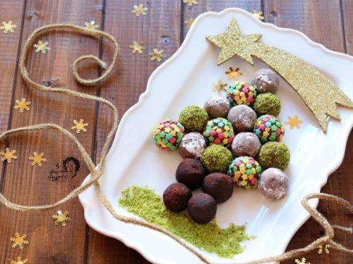 Albero di Natale di Tartufini al Pandoro Mascarpone e Nutella