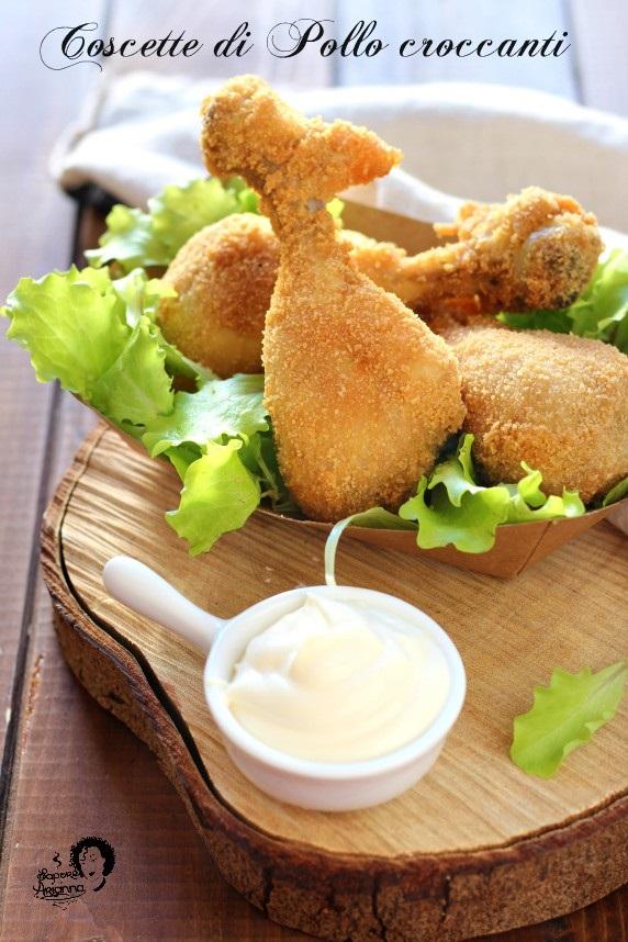 coscette di pollo croccanti fritte in padella