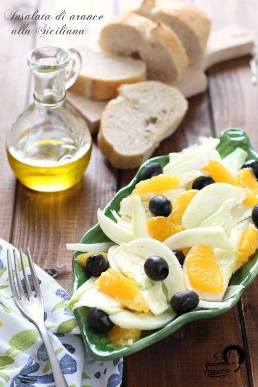 insalata di arance alla siciliana semplice
