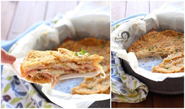 torta di cotolette di pollo ripiene al forno