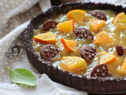 Crostata al Cacao con crema Orange Curd