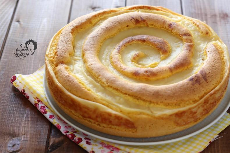 torta girandola con crema pasticcera nell'impasto