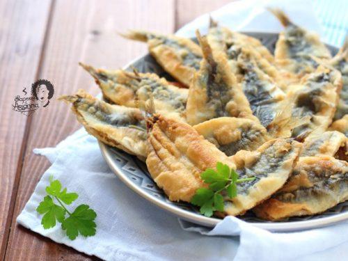 SARDE ALLINGUATE FRITTE ricetta siciliana