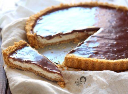 Cheesecake fredda mascarpone e cioccolato senza colla di pesce