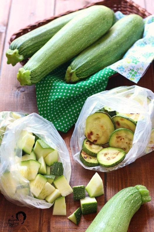 come congelare le zucchine cotte o crude