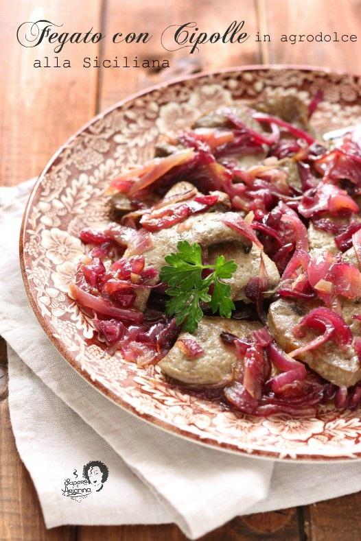fegato con cipolle in agrodolce alla siciliana