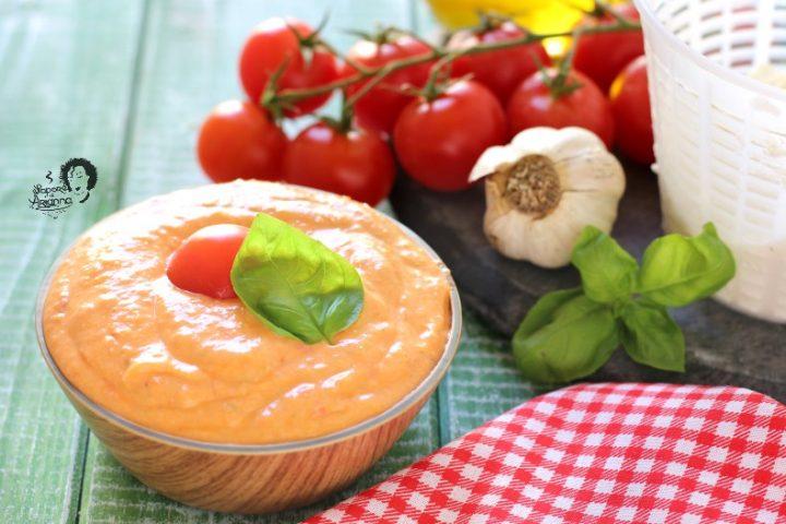 pesto alla siciliana con ricotta e pomodorini
