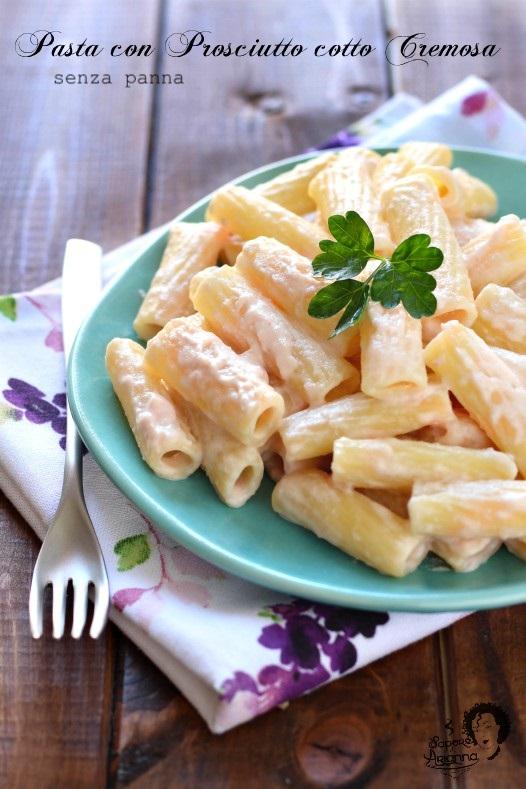 Pasta con prosciutto cotto cremosa senza panna