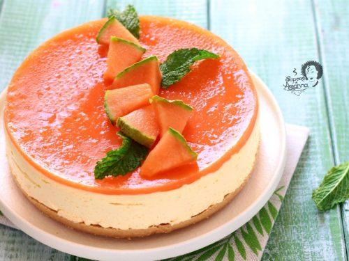 Cheesecake al MELONE senza gelatina