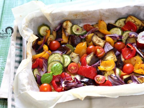 MIX DI VERDURE ESTIVE AL FORNO LIGHT