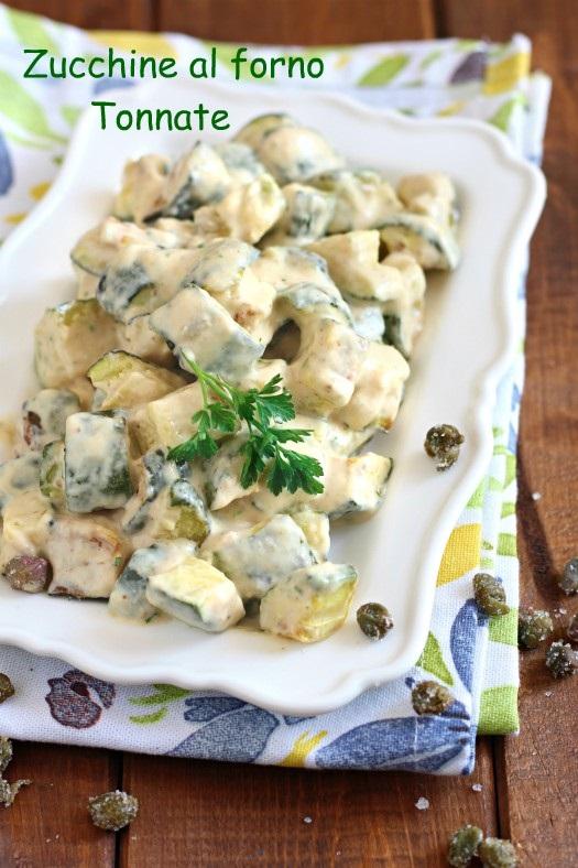 zucchine al forno tonnate