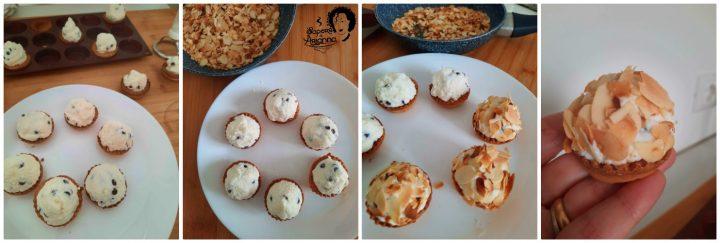 crostatine di ricotta e cioccolato con mandorle