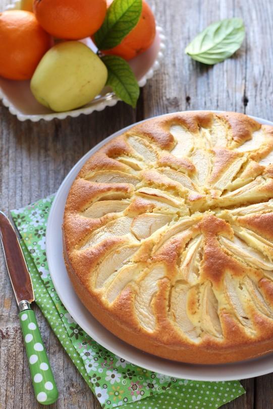 torta di mele e arance senza bilancia