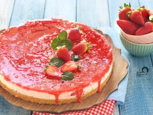 Cheesecake alle Fragole SENZA GELATINA con mascarpone