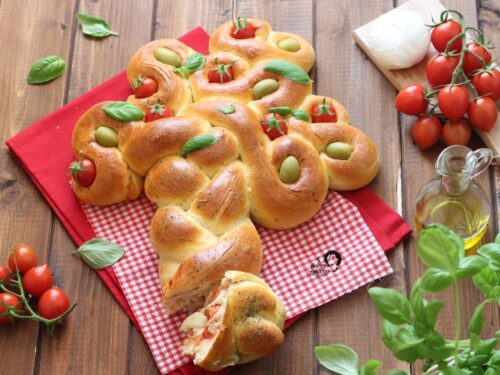 ALBERO DELLA VITA SALATO Pan Brioche con pomodoro e mozzarella