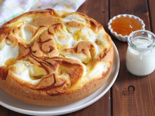 Torta Variegata con yogurt e marmellata