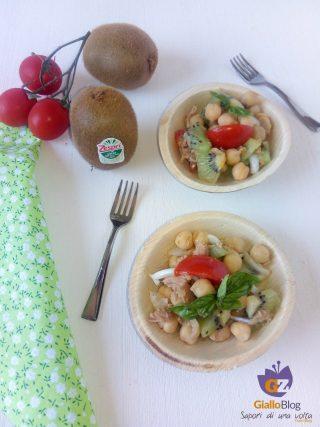 insalata di ceci e kiwi