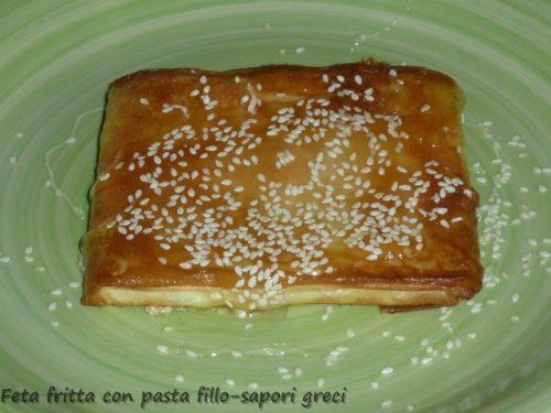 Feta fritta con pasta fillo