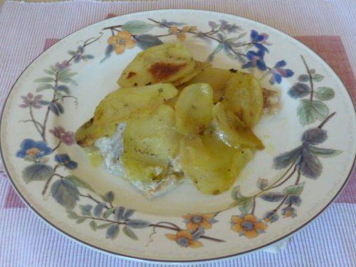 Merluzzo in crosta di patate