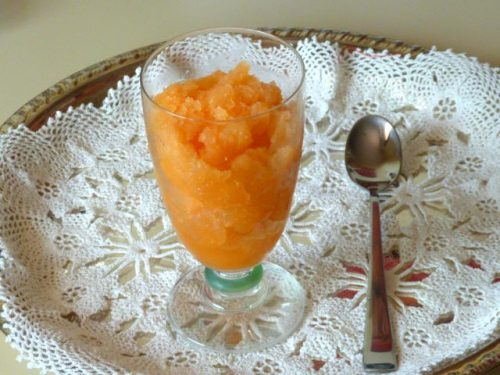 Granita di melone ricetta siciliana