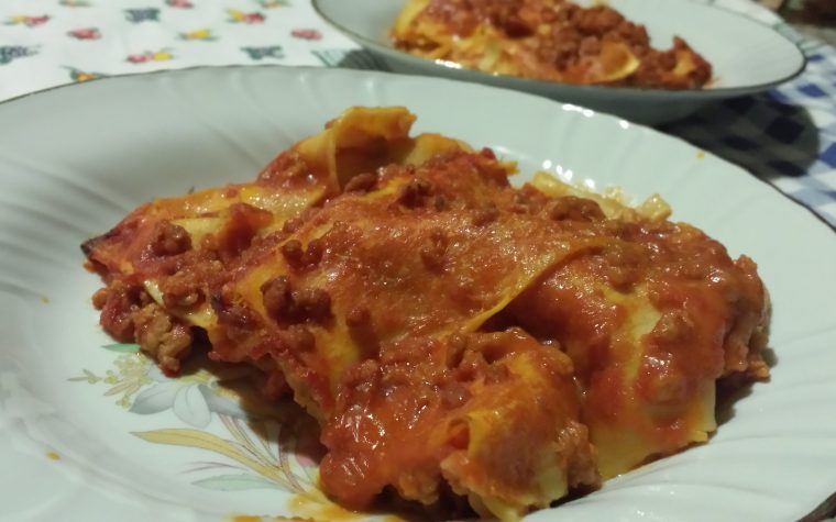 Le mie lasagne al ragù