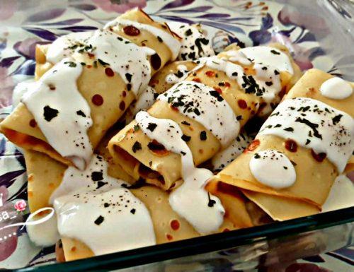 Cannelloni di crepes con ricotta e spinaci
