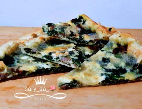 Torta salata salsiccia spinaci e mozzarella