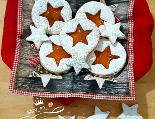 Occhi di bue all'albicocca ricetta di Natale
