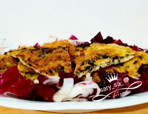 Frittata con foglie di carciofi e speck