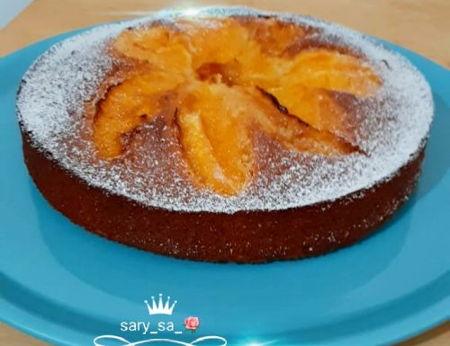Torta di arance con arance caramellate