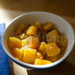 stufato di zucca con semi di papavero ricetta vegetariano say yummy