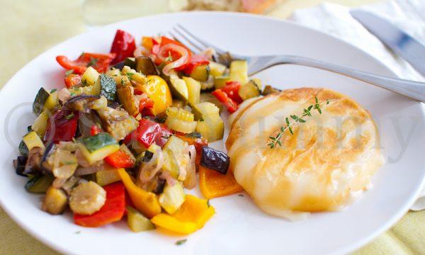 Scamorza alla griglia con verdure