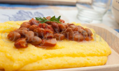 Calzagatt- Polenta e fagioli
