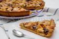 Crostata con cioccolato e composta di pere