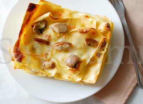 Lasagne al forno in bianco