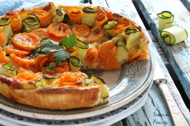 Torta rustica di zucchine e carote – leggera e gustosa –