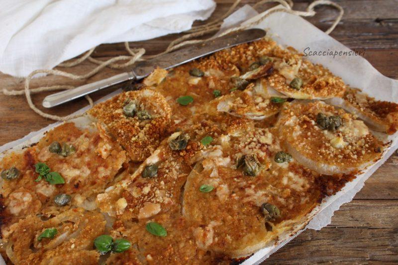 """Cipolla di """"Giarratana"""" gratinata al forno – Ricetta Siciliana –"""